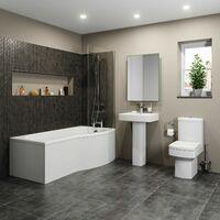Royan P Bathroom Suite with Right Hand Bath