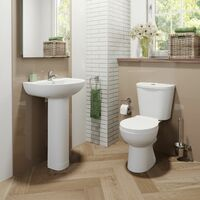 Essentials P Bathroom Suite with Right Hand Bath