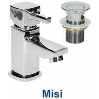 1200mm Bathroom Vanity Unit Basin Gloss White Floorstanding Tap + Waste