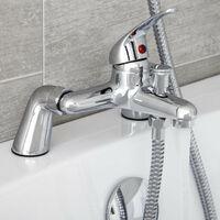Essentials Basin Mixer Tap and Bath Shower Mixer Tap Set