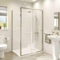 1200 x 760mm Sliding Shower Door Enclosure Side Panel 4mm Safety Glass Framed