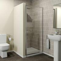 760x760mm Pivot Shower Door Enclosure 4mm Glass Screen Panel Framed Acrylic Tray