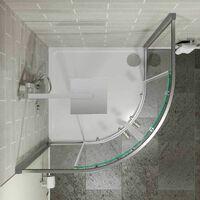 Hydrolux 900mm Quadrant Shower Enclosure - 4mm Glass