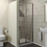 800mm Bi Fold Shower Door Enclosure Glass Screen Panel Framed 4mm Safety Glass