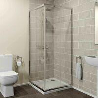 800 x 800mm Corner Entry Shower Enclosure Sliding Door 4mm Safety Glass Cubicle