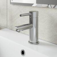 Modern Bathroom Mono Basin Mixer Tap Waste Single Lever Chrome