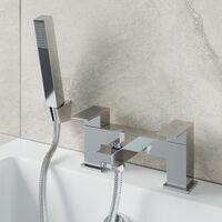 Bathroom Square Mono Basin Mixer Tap Bath Shower Filler Tap Set