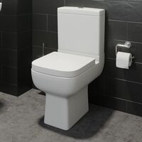 Complete Bathroom Suite L Shaped Bath Toilet Vanity Unit Shower