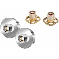 Architeckt Shower Bar Valve Easy Wall Fixing Kit Round Solid Brass