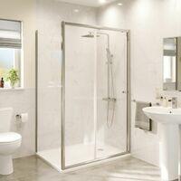 1000 x 760mm Sliding Shower Door Enclosure Side Panel 4mm Safety Glass Framed