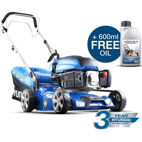 Hyundai HYM430SP 139CC Petrol Lawn Mower, Blue
