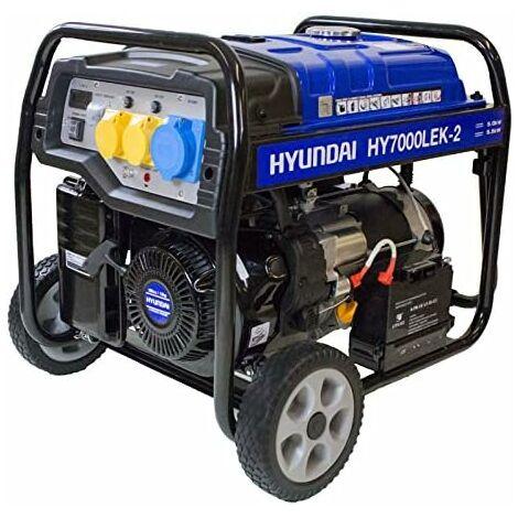 Hyundai HY7000LEK-2 5.5kW / 6.8kVa* Recoil & Electric Start Site Petrol Generator