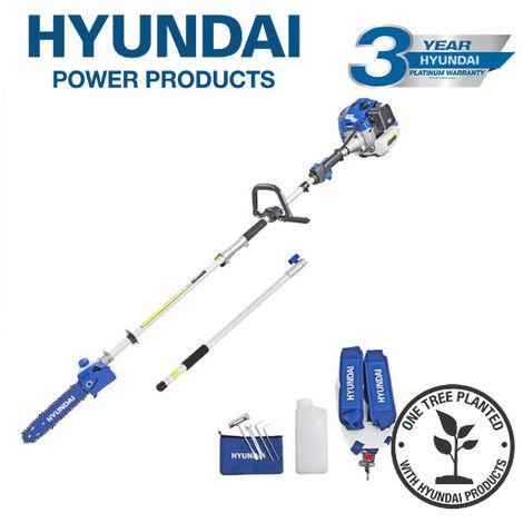 Hyundai HYPS5200X 52cc Long Reach Petrol Pole Saw/Pruner/Chainsaw