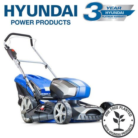 Hyundai HYM80LI460P 80V Lithium-Ion Cordless Battery Powered Lawn Mower 45cm Cutting Width With Battery & Charger