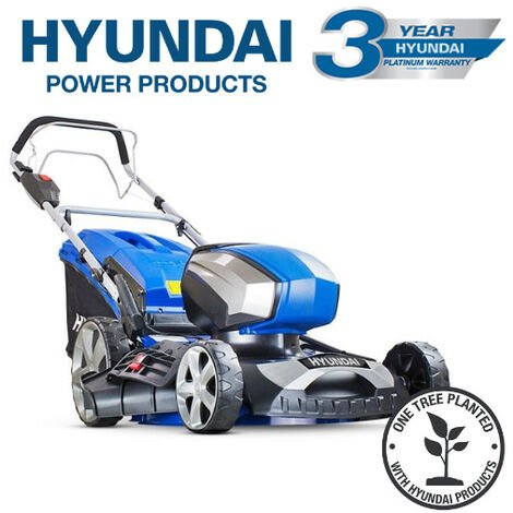 Hyundai HYM80LI460SP 80V Lithium-Ion Cordless Battery Powered Self Propelled Lawn Mower 18