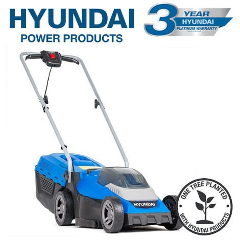 Hyundai HYM40LI330P 40V Lithium-Ion Cordless Battery Powered Roller Lawn Mower 33cm Cutting Width With Battery & Charger