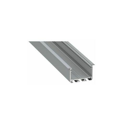 Profilé Alu Encastrable 43x30mm 2m Sans Diffuseur CLAREO