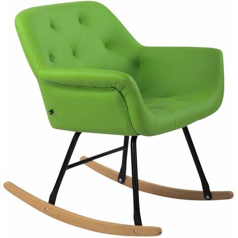 Chaise bascule Cabot similicuir vert