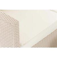 Salon de Jardin Liberi 5mm blanc Blanc beige