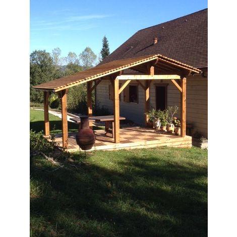 Abri de jardin en bois   3.7 x 4.5 - 17.2 m² - 2 pans