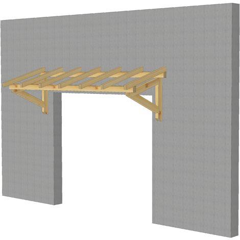Marquise & Auvent en bois | Garage - Robuste - 3 x 1.10 m