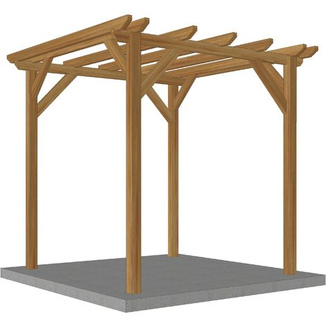 Abri buche en bois massif   2.3 x 2.3 m