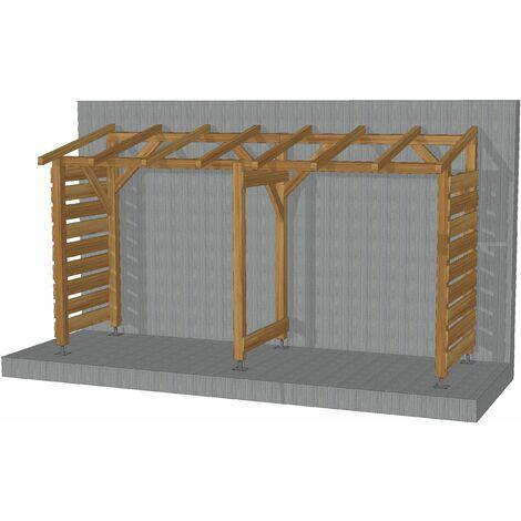 Abri Jardin 4m - Non-couvert - Sans fond - Cl3 Marron