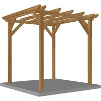 Pergola en bois massif | 2.3 x 2.3 m