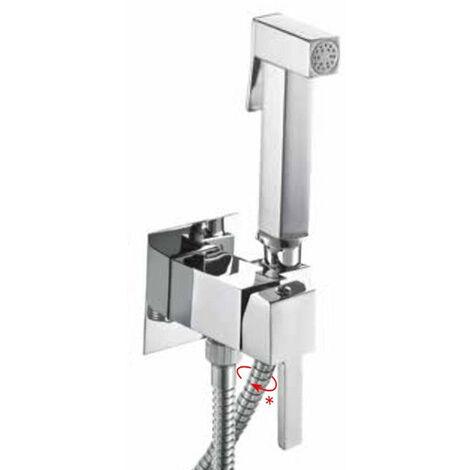 Ensemble douchette Hygiénique pour WC avec mitigeur eau froide et chaude
