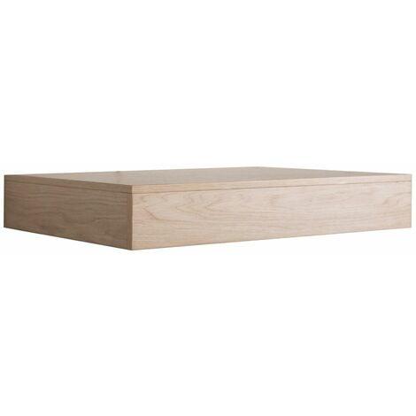 Plan de toilette suspendu pour vasque WILL - 60 cm - Ep. 12 cm - Décor Chêne - Bois Clair