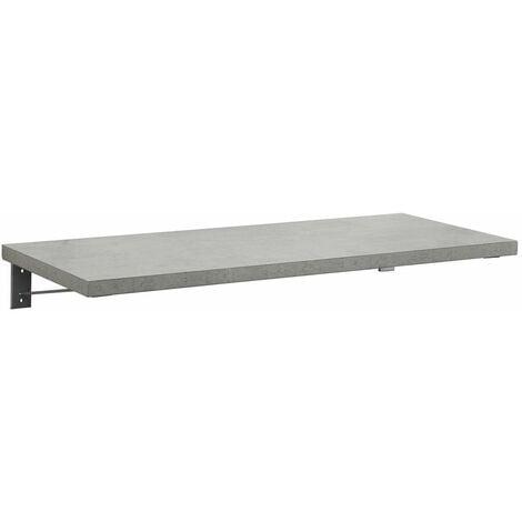 Plan de toilette suspendu pour vasque WILL - 120 cm + Equerres Invisibles - Décor Chêne / Effet Béton - Béton