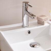 Vasque Salle de Bain à Poser Carrée 38 cm NINO - Blanc