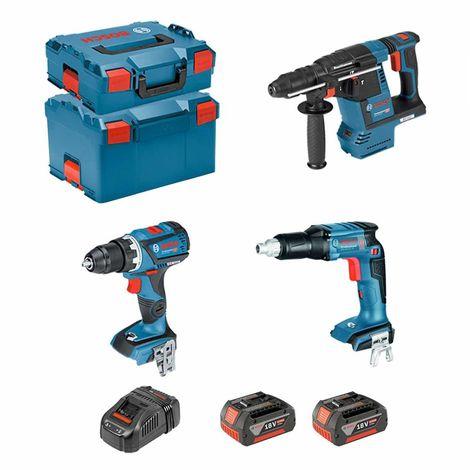 BOSCH Kit ECL3P2BEC (GSR 18V-EC TE GBH 18V-26F GSR 18V-60C 2 x 5,0Ah GAL1880CV L-Boxx 136 L-Boxx 238)