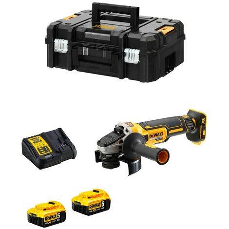 Meuleuse - Brushless - 2 batteries 18 V - 1000 W - 9000 t/min - 125 mm - XR - DEWALT, DCG405P2-QW