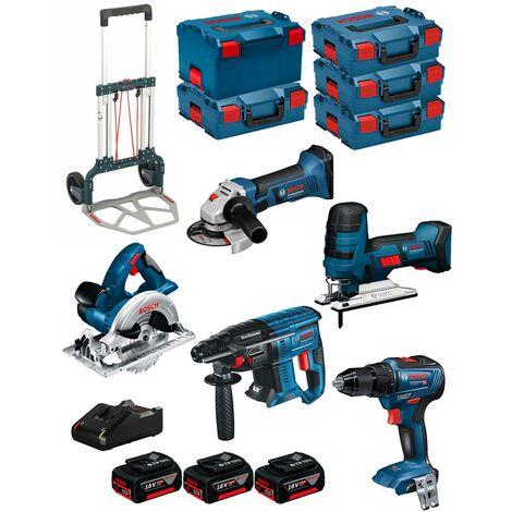 BOSCH Kit 18V BK502 (GST 18V-LIS+GKS 18V-LI+GBH 18V-21+GWS 18-125V-LI+GSR 18V-55+ 3x5,0Ah+GAL18V-40+4xL-Boxx136+L-Boxx238+Caddy)