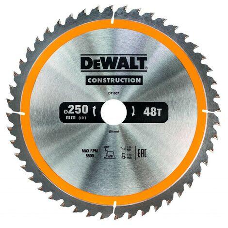 Disque de coupe pour scie circulaire DeWALT DT1957-QZ (Ø 250 x 30 mm 48D)