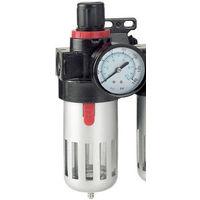 """KS Tools 515.3355 1//4/"""" aria compressa unità di manutenzione riduttore di pressione 0,5-9,5 BAR"""