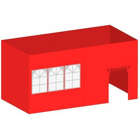 Packs Laterales Carpas Plegables - Pack 4 Laterales para Carpas 3x6 Master 4L1V1P - Rojo