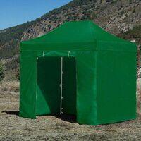 Carpa Plegable para Eventos y Jardín 3x2 Eco (Kit Completo) Verde
