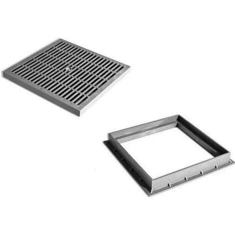 Chiusino a griglia completo di telaio in PVC Dakota - Dimensione: 20x20 cm