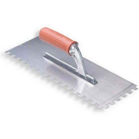 Spatola dentata 28x12cm Raimondi - Dimensioni: 10x10 mm