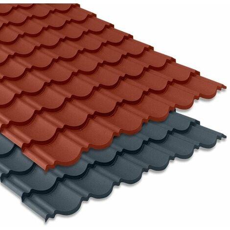"""main image of """"Tôle imitation tuile emboîtable - BACACIER Tuile R Originale®   Coloris: Anthracite mat - Dimension: 1180 x 934mm - 1.00 m²"""""""
