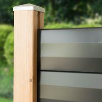 Poteau bois rainuré 2300 mm pour lame de clôture FAREL®