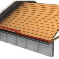 Bande d'égout pour tôle tuiles BACACIER Tuile R® | Brun mat - 1000 mm Longueur