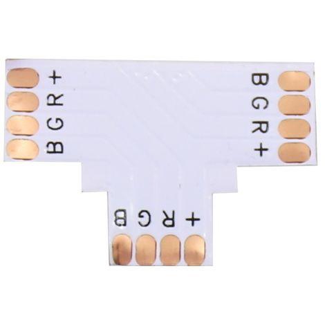 Jandei Pack 10 unidades Conector RGB en T 10mm para tira led