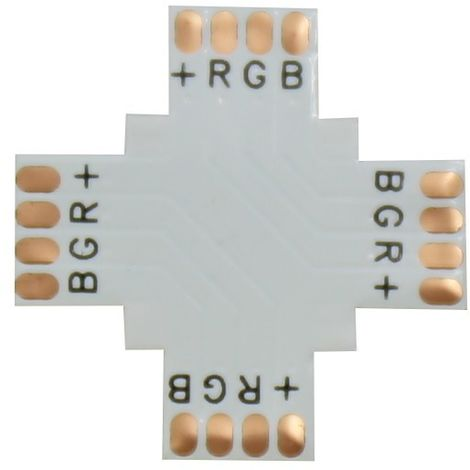 Jandei Pack 10 unidades Conector RGB en cruz 90º 10mm para tira led