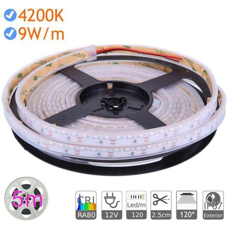 jandei Tira led luz lateral 12V 4200K exterior IP67 9W/m 120 Led/m