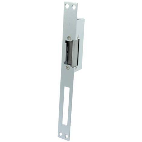 Jandei Cerradura electrica automática Larga encastrada 250 * 25 * 31 tipo control Fail Safe fuerza retención 800kg acero inoxidable y aluminio