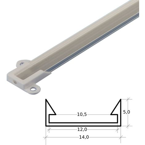 jandei Perfil Aluminio Tira led 2 Metros Superficie 14 x 5 mm
