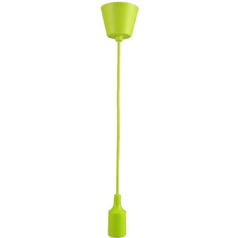 jandei Lampara colgante base, cable y portamparas verde E27